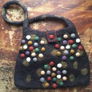 Funky Felted Wool Handbag